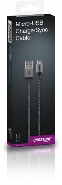 Cabstone Micro-USB laadimiskaabel 0.3m