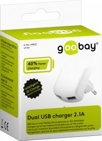 Goobay Dual USB laadija 2.1A